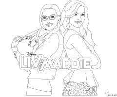Coloriage Liv et Maddie