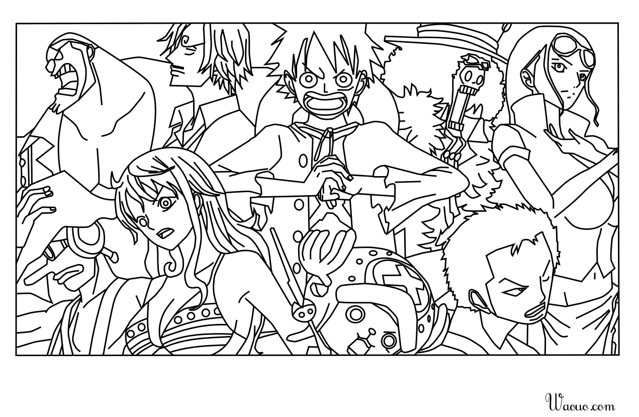 Coloriage One Piece A Imprimer Et Colorier