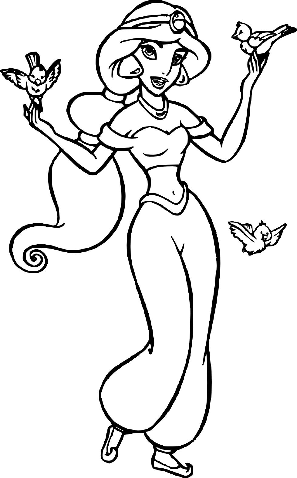 Disney Coloriage Princesse Jasmine à Imprimer Et Colorier
