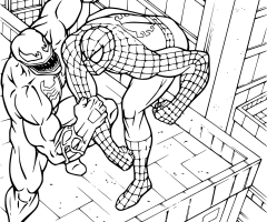 Coloriage Spiderman Venom