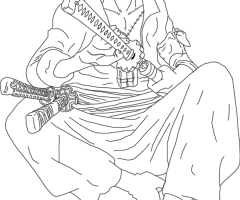 Coloriage Zoro One Piece
