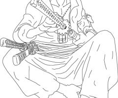 Coloriage Zoro One Piece