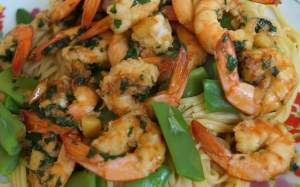 Crevettes au gingembre