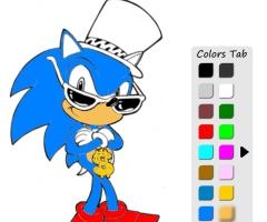 Sonic coloriage - Jeux super sonic gratuit ...