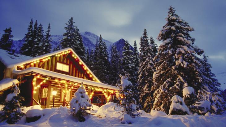 Maison foret neige