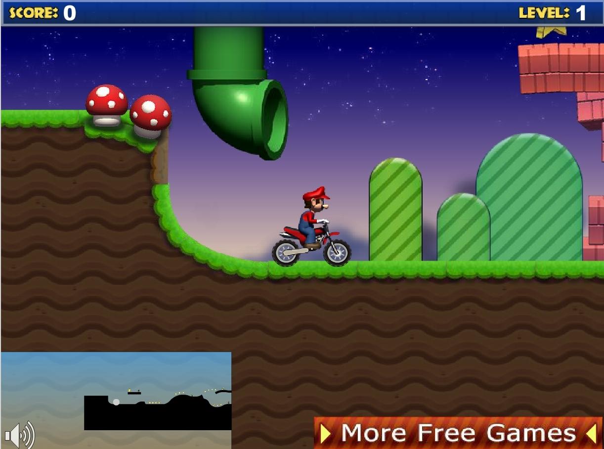 jeu mario moto bike gratuit en ligne