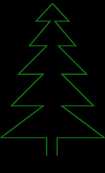 Sapin de Noël à colorier