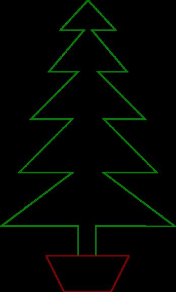 Sapin de Noël en pot