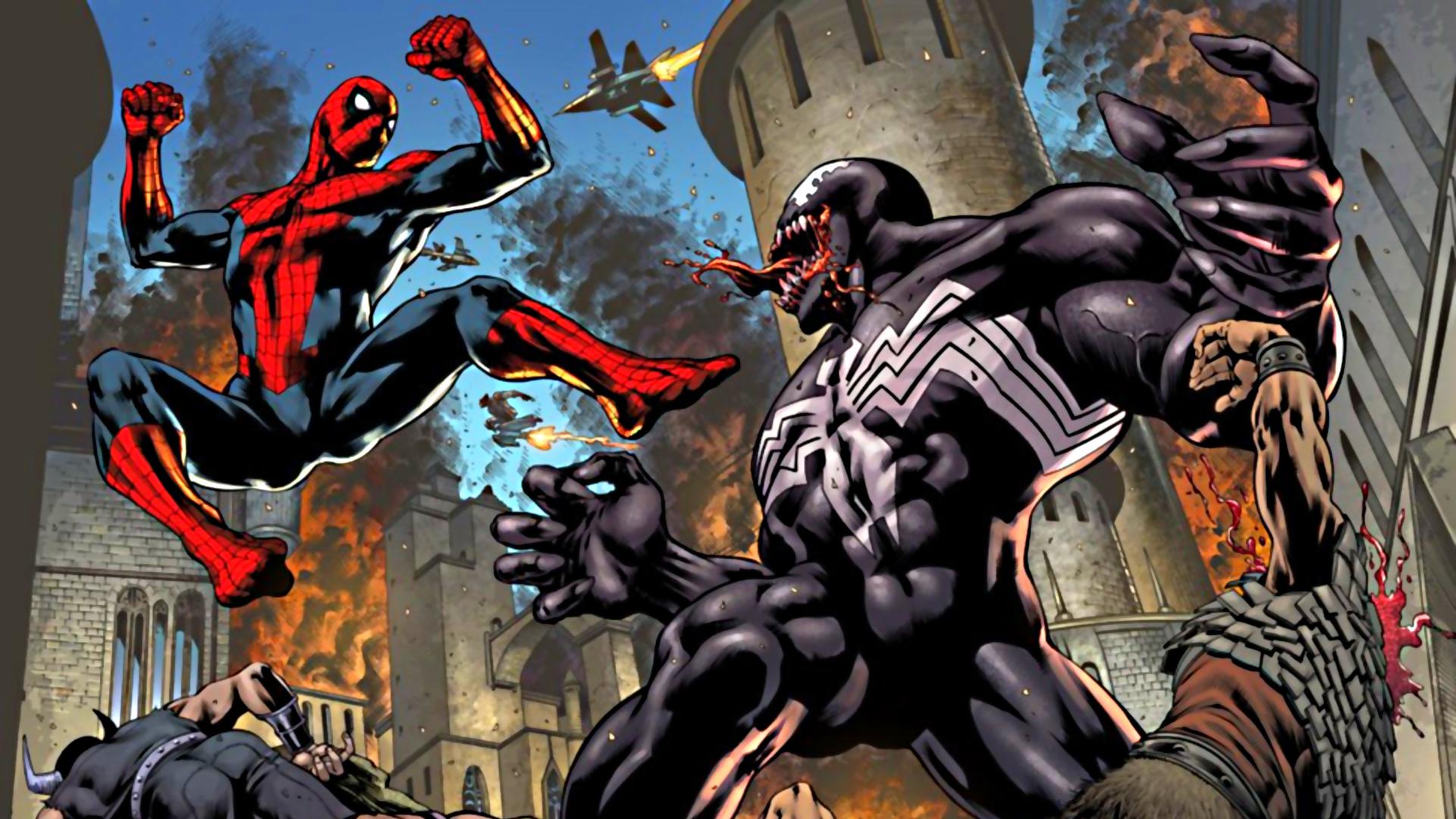 Coloriage spiderman contre venom imprimer et colorier - Coloriage spiderman et venom ...