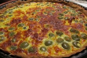 Tarte aux olives