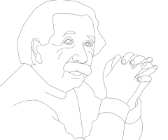 Coloriage Albert Einstein