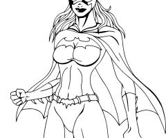 Coloriage Batgirl