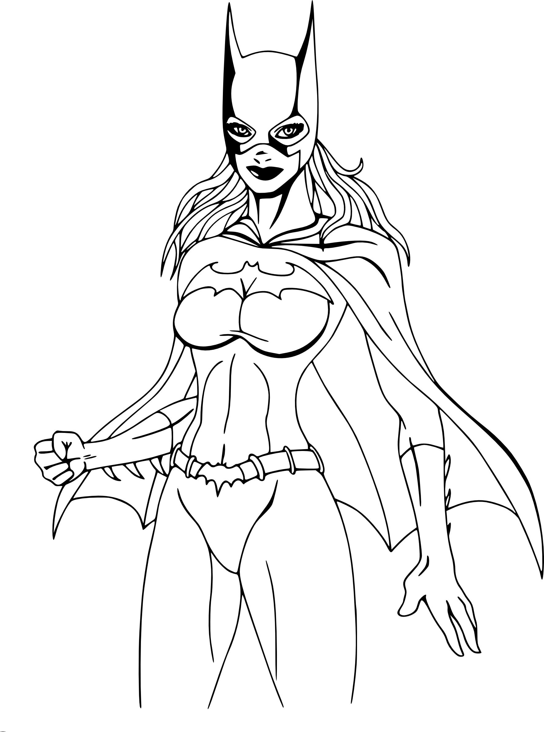 Coloriage Batgirl à imprimer et colorier
