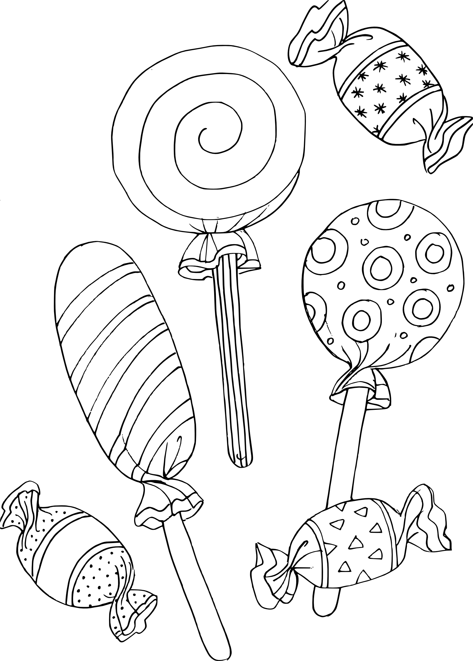 Coloriage A Imprimer Bonbon.Coloriage Bonbons Gratuit A Imprimer Et Colorier
