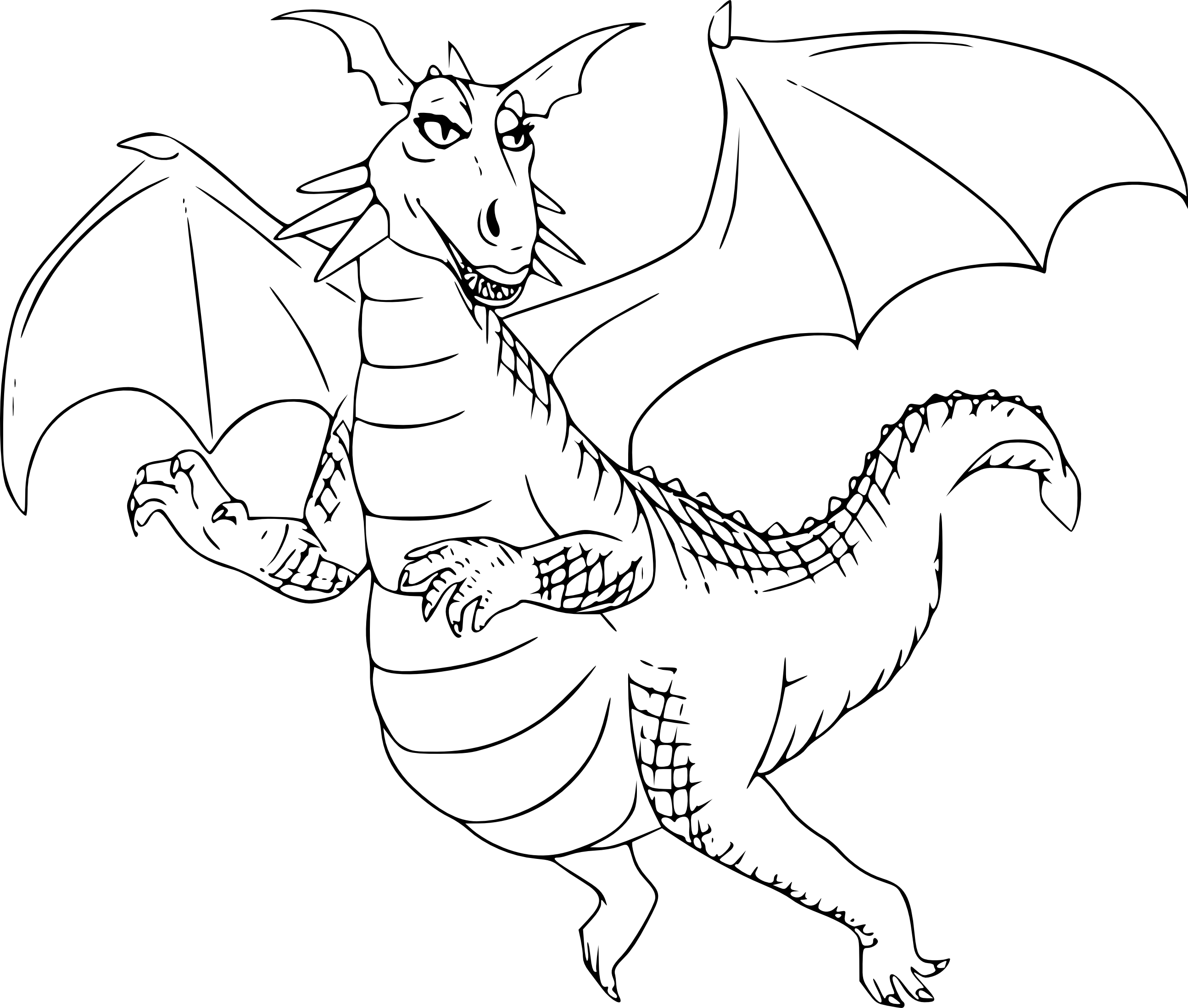 Coloriage dragon shrek imprimer et colorier - Coloriages de dragons ...