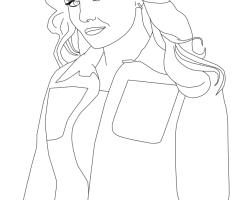 Coloriage Emma Swan