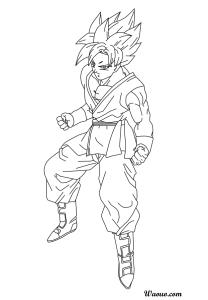 Coloriage Goku Super Saiyen Divin