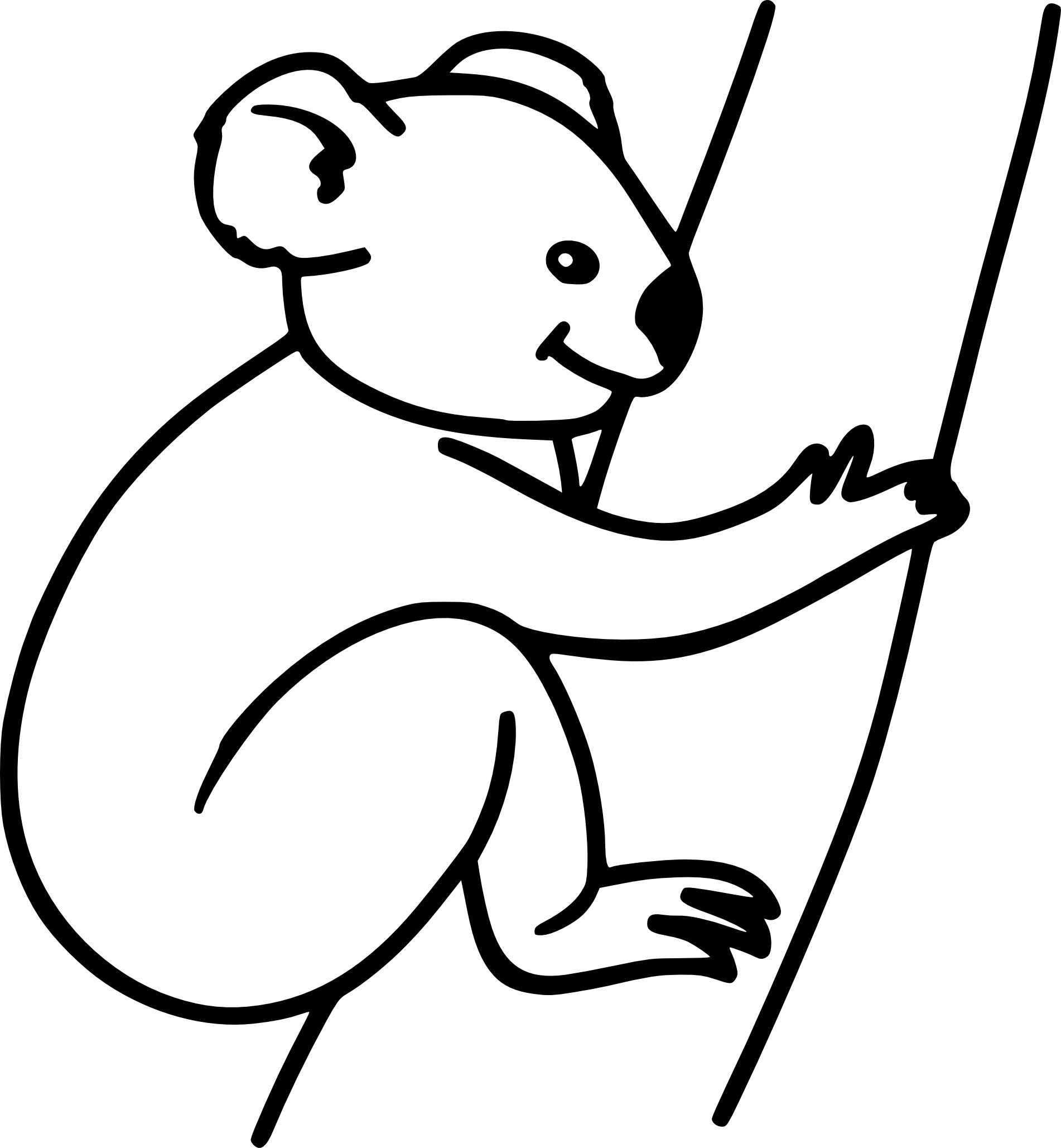 Coloriage Gratuit Koala.Coloriage Koala Sur Un Arbre A Imprimer Et Colorier