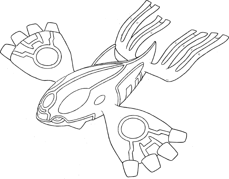 Coloriage Prrimo-Kyogre