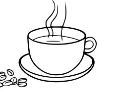 Coloriage tasse de cafe