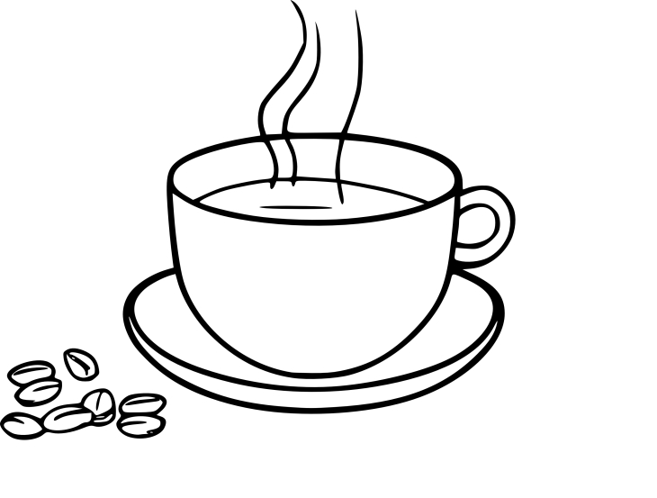 Coloriage tasse de cafe