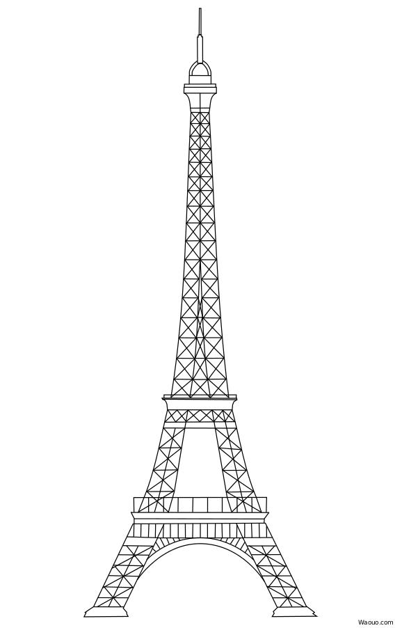 Coloriage tour eiffel gratuit imprimer et colorier - Couleur de la tour eiffel ...