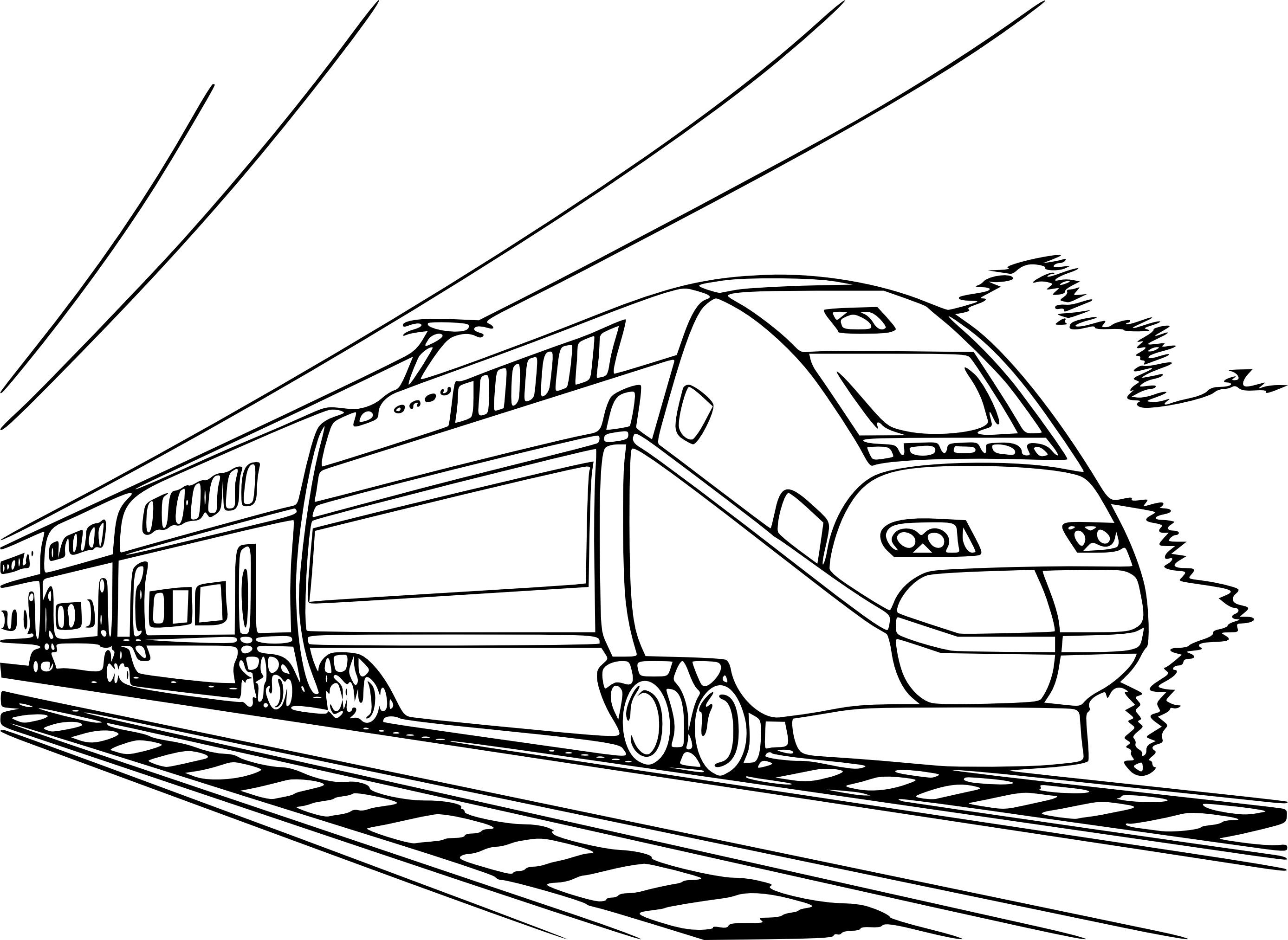 Coloriage train TGV