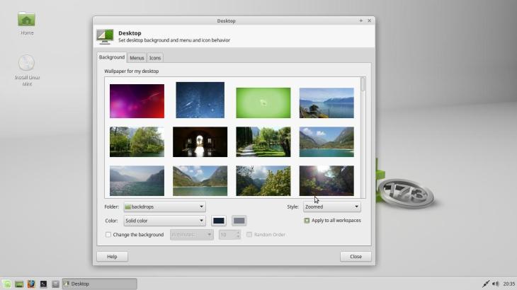 Linux Mint fond d'écran