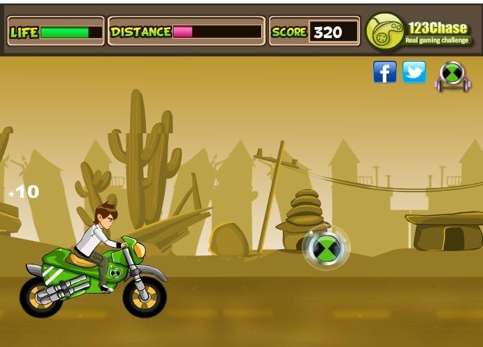 Jeu Ben 10 moto