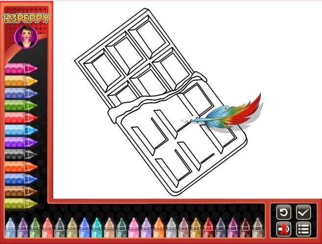 Jeu bonbons et gourmandises coloriage gratuit en ligne - Jeu dessin gratuit ...