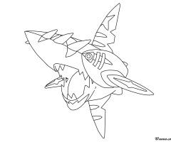 Coloriage Mega-Sharpedo