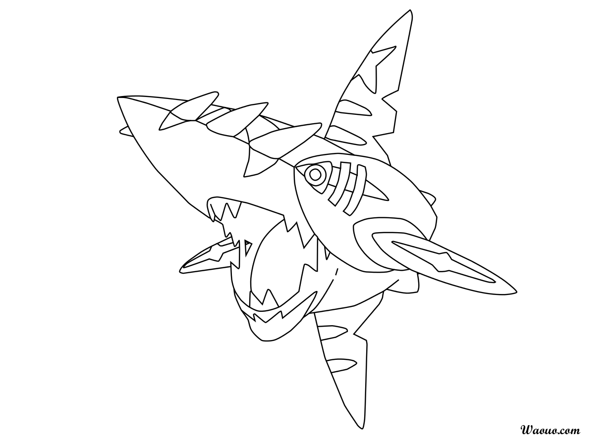 coloriage mega sharpedo pokemon