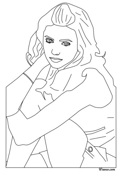 Coloriage nina dobrev de vampire diaries imprimer et - Coloriage chica vampiro ...