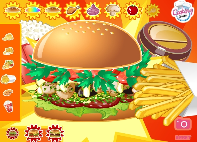 Restaurant hamburger