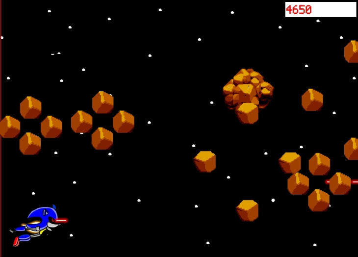Jeu Sonic espace