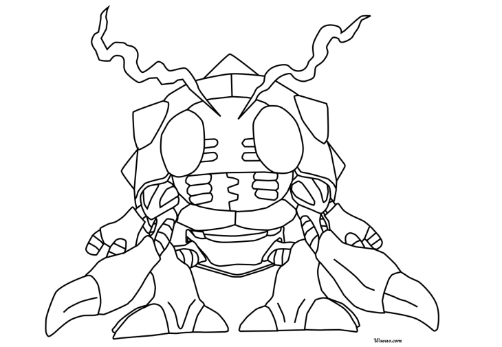 Coloriage Tentomon
