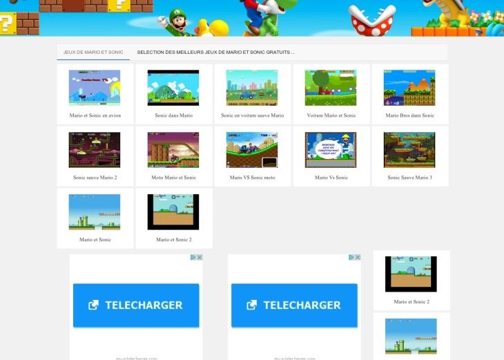 Jeux de Mario et Sonic