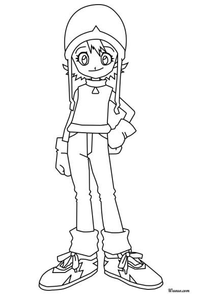 Coloriage Sora Takenouchi