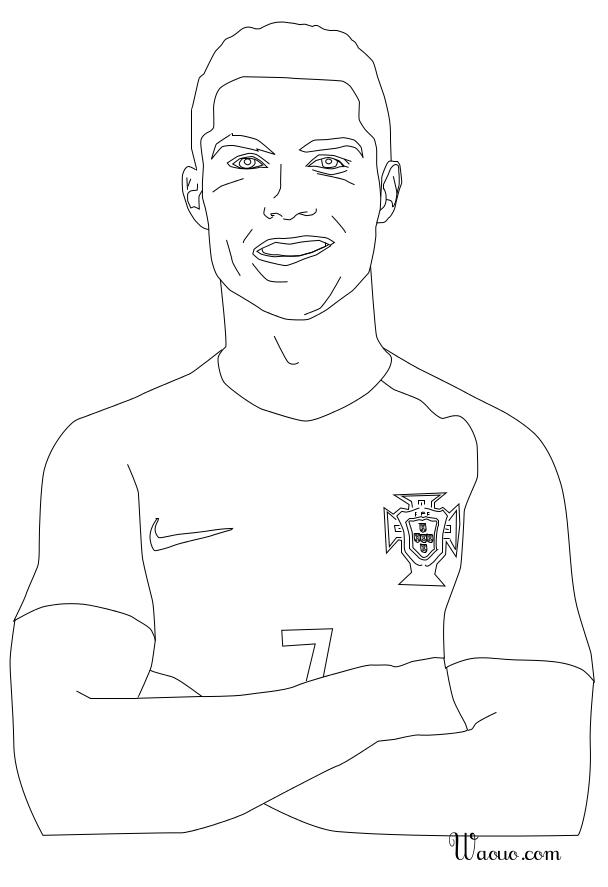 Coloriage cristiano ronaldo au portugal imprimer - Ronaldo coloriage ...