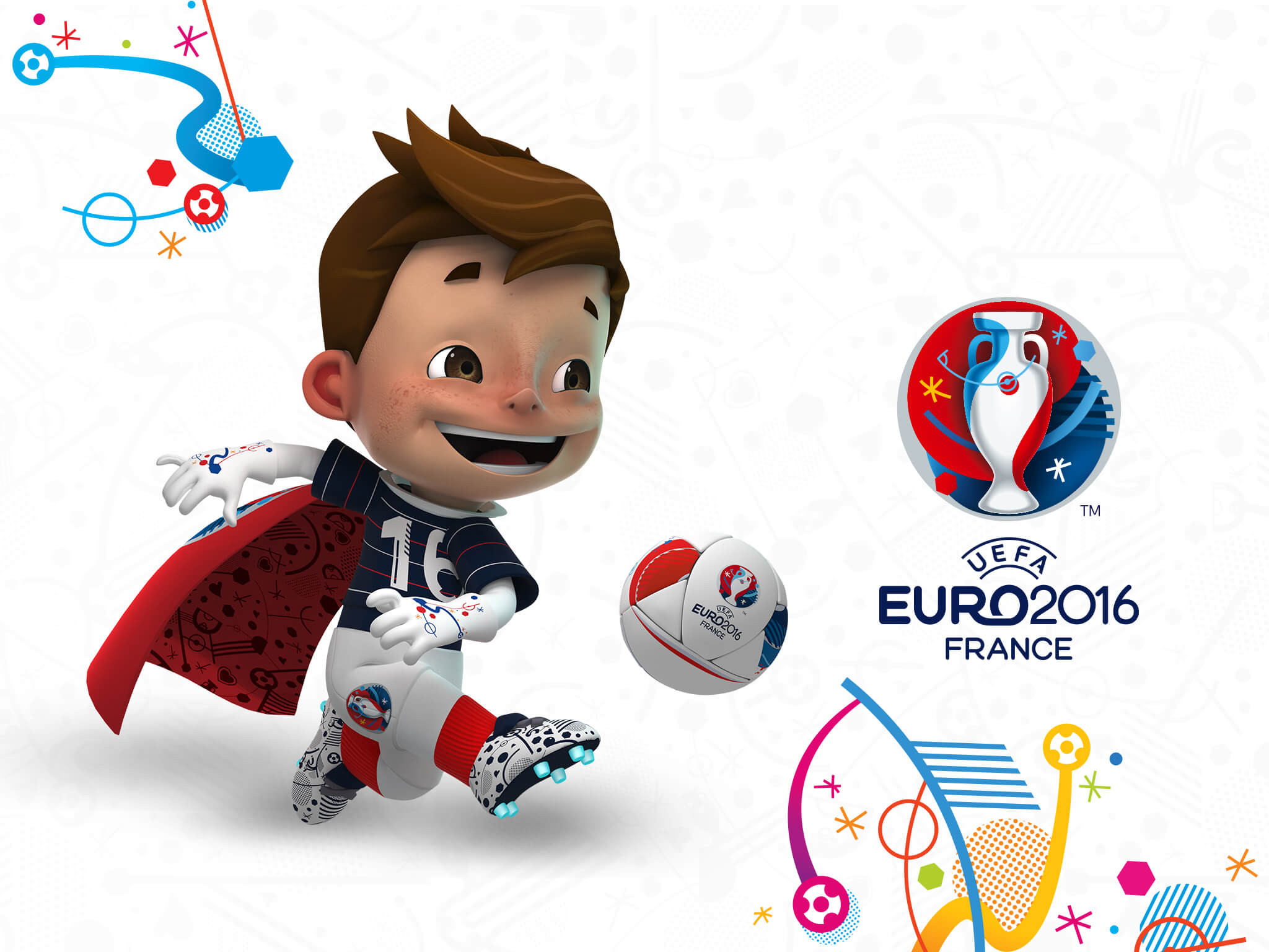 coloriage mascotte de l euro 2016 imprimer et colorier. Black Bedroom Furniture Sets. Home Design Ideas