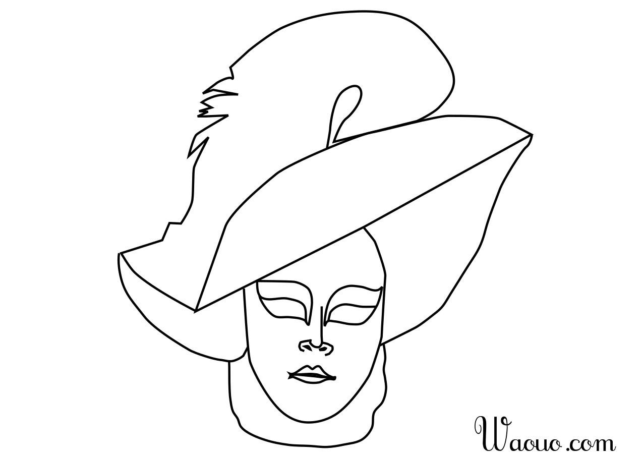 Coloriage Masque Carnaval De Venise à Imprimer Et Colorier