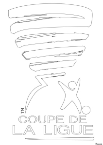 Coloriage coupe de la ligue