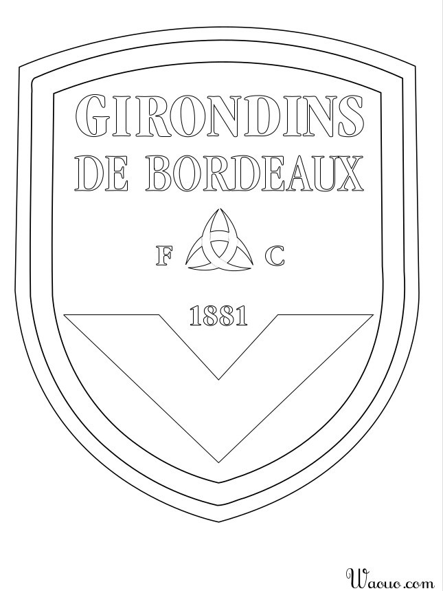 coloriage football girondins de bordeaux imprimer. Black Bedroom Furniture Sets. Home Design Ideas