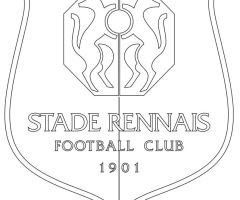 Coloriage football Stade Rennais
