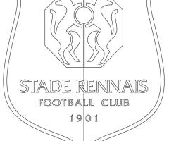 Coloriage football Stade Rennais