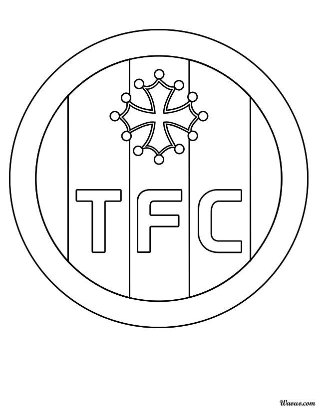 Coloriage Logo Foot Toulouse.Coloriage Toulouse Football Club A Imprimer Et Colorier
