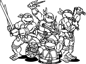 Coloriage Tortues Ninja