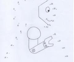 Coloriage point à relier robot