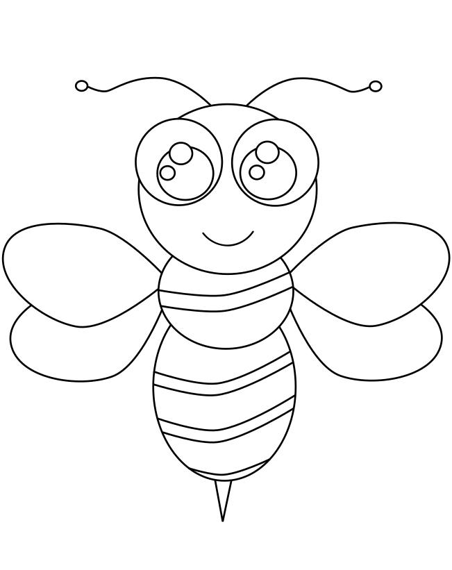 Coloriage abeille imprimer et colorier - Coloriage d abeille ...