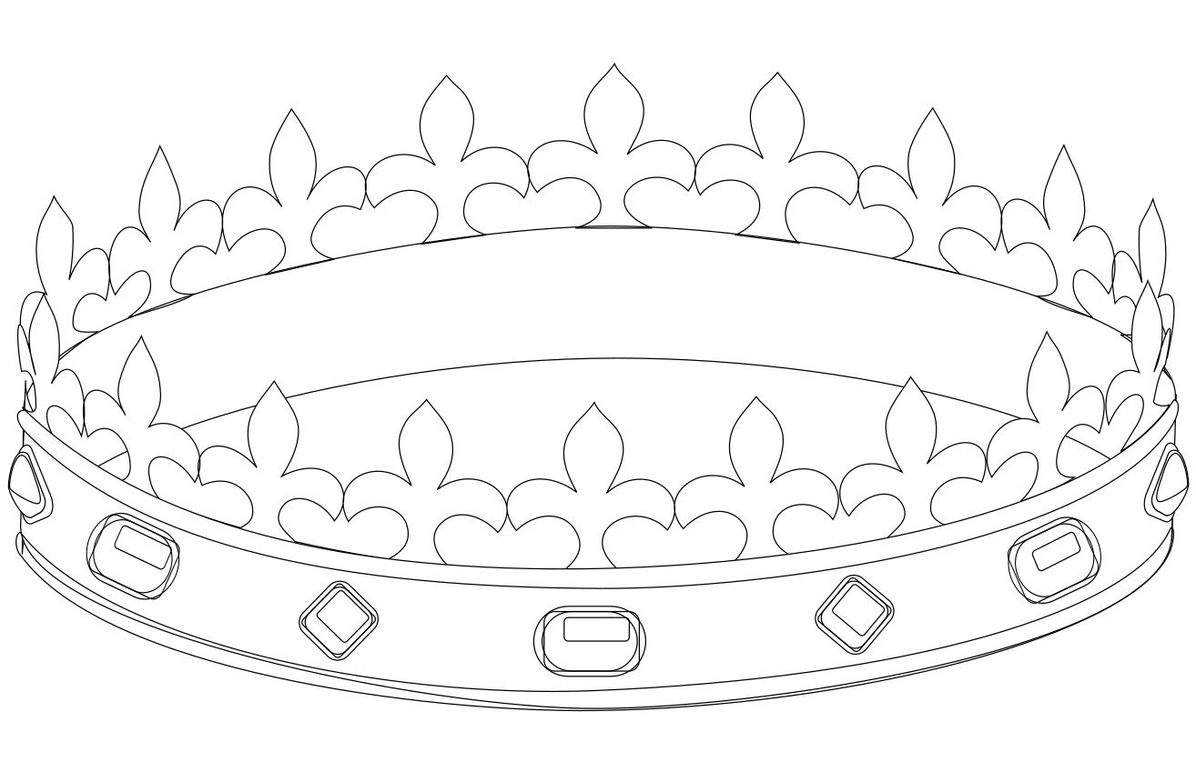 Coloriage couronne de la galette des rois imprimer et colorier - Coloriage couronne ...
